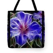 Blue Hibiscus Fractal Tote Bag