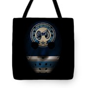 Blue Jackets Jersey Mask Tote Bag