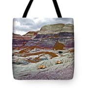 Blue Mesa Trail In Petrified Forest National Park-arizona Tote Bag