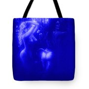 Blue Night With Wood Nymphs Tote Bag