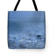 Blue Sea At Sunset Tote Bag