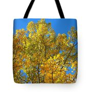 Blue Skies And Golden Aspen Trees Tote Bag