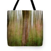 Blurred Trees Tote Bag