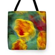 Blurred Tulips Tote Bag