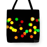 Blurry Colored Lights Tote Bag