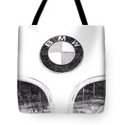 Bmw Z3 Emblem In Black Tote Bag