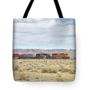 Bnsf 9112 Westbound From Boron Tote Bag