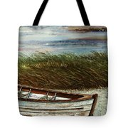Boat On Shore Tote Bag