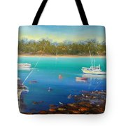Boats At Merimbula Australia  Tote Bag