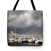 Boats In A Marina Tote Bag