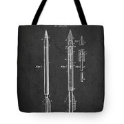 Bomb Lance Patent Drawing From 1885 Tote Bag by Aged Pixel