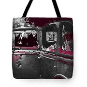 Bonnie And Clyde Death Car South Of Gibsland Toward Sailes Louisiana May 23 1933-2013 Tote Bag