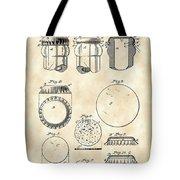 Bottle Cap Patent 1892 - Vintage Tote Bag
