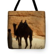 Bou Bou Camel With Beduin Owner  Tote Bag
