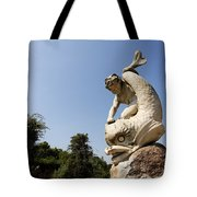 Boy And Dolphin Sculpture By Alexander Munro In Hyde Park London England Tote Bag by Robert Preston