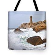 Breaking Of Waves Tote Bag