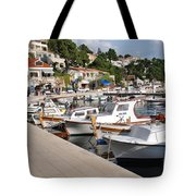 Brela Harbour Croatia Tote Bag