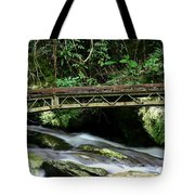 Bridge Over Mountain Stream Tote Bag