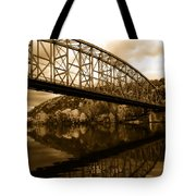 Bridge Reflections In Autumn Tote Bag