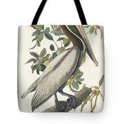 Brown Pelican Tote Bag