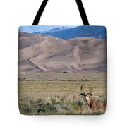 Buck At Great Sand Dunes Tote Bag
