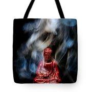 Buddha In Smoke Tote Bag