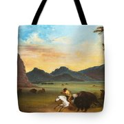 Buffalo Hunt Tote Bag