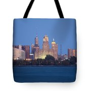 Buffalo Skyline From Fort Erie At Dusk Tote Bag