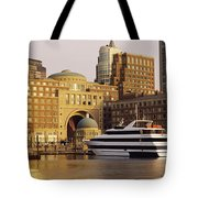 Buildings At The Waterfront, Boston Tote Bag