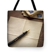 Bundle Of Vintage Letters With Fountain Pen Tote Bag