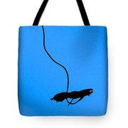 Bungee Jumper Against Blue Sky Tote Bag