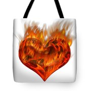 Burning Love  Brennende Liebe Tote Bag