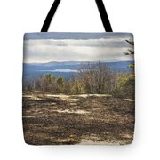 Burnt Blueberry Field In Maine Tote Bag