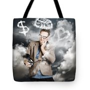 Business Man Planning Work Life Balance Strategy Tote Bag
