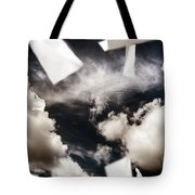 Business Papers Falling In The Sky Tote Bag