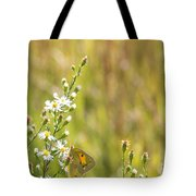 Butterfly In A Field Of Flowers Tote Bag