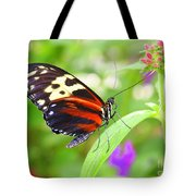 Butterfly On Bush Tote Bag