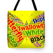Butterfly Word Cloud Tote Bag