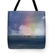 By The Light Of The Silvery Moon Tote Bag