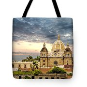 Clouds Over Cathedral Tote Bag