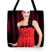 Cabaret Show Girl Performer In The Stage Spotlight Tote Bag