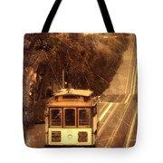 Cable Car In San Francisco Tote Bag