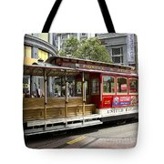 Cable Car On Turntable San Francisco Tote Bag