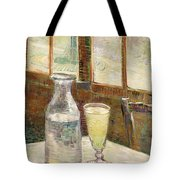 Cafe Table With Absinth  Tote Bag