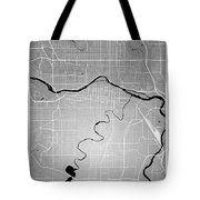 Calgary Street Map - Calgary Canada Road Map Art On Colored Back Tote Bag