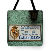 Calle Orleans Tote Bag