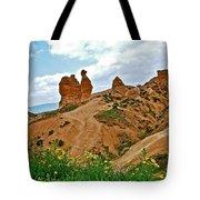 Camel In Camel Valley In Cappadocia-turkey Tote Bag