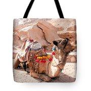 Sitting Camel Tote Bag