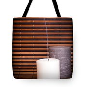 Candles And Bamboo Tote Bag