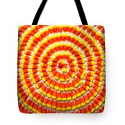 Candy Corn In Circles Tote Bag